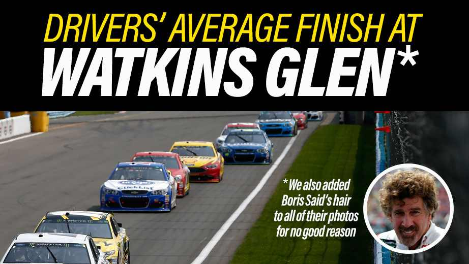 nascar driver averages watkins glen